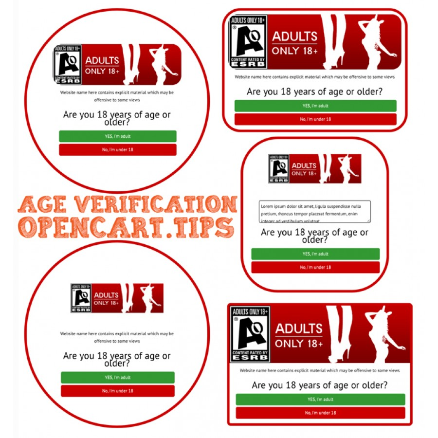 Age Verification OpenCart 3