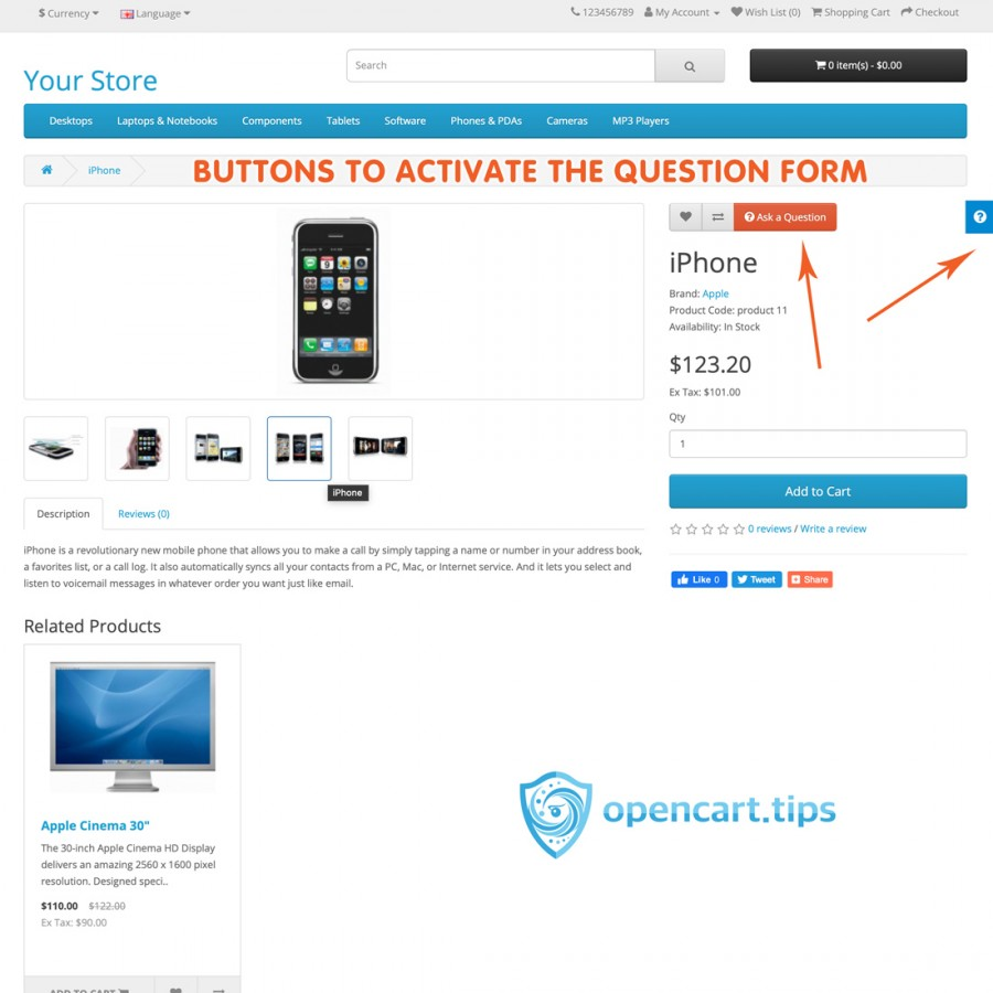Ask a Question OpenCart