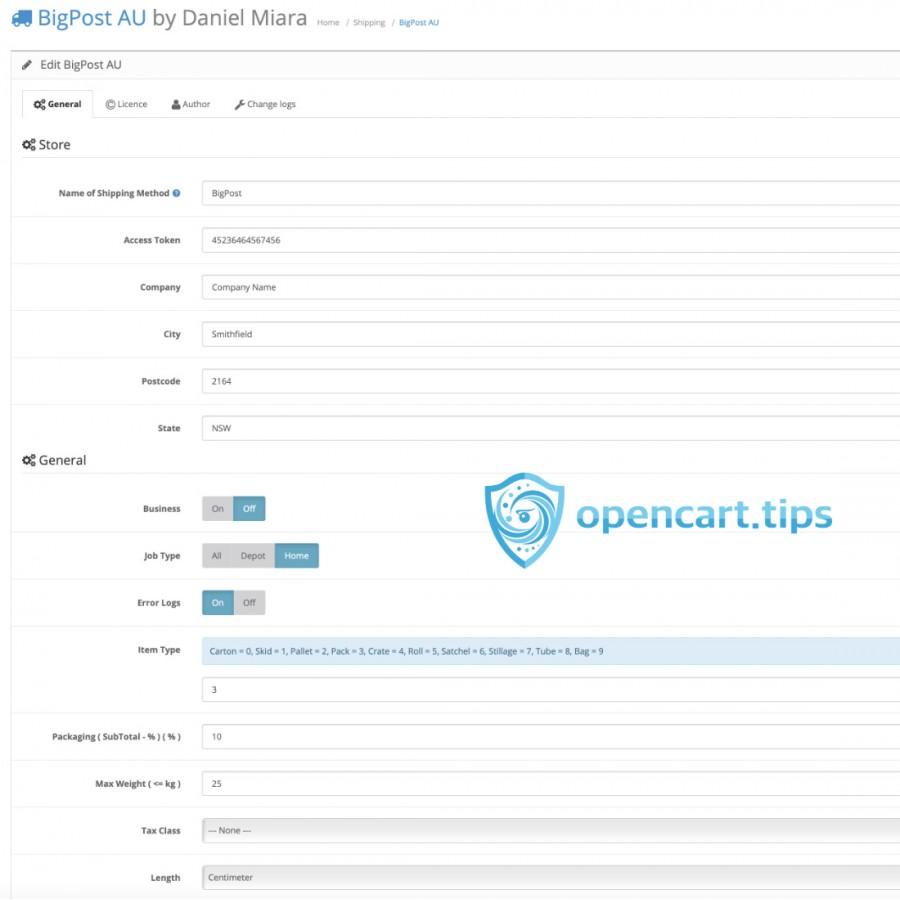 Big Post AU OpenCart