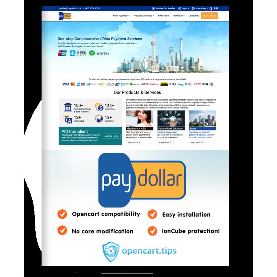 PayDollar AsiaPay OpenCart 3