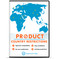 Product Country Restrictions OpenCart 3