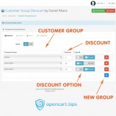 Customer Group Discount Opencart 3