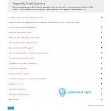 FAQ Frequently Asked Questions OpenCart