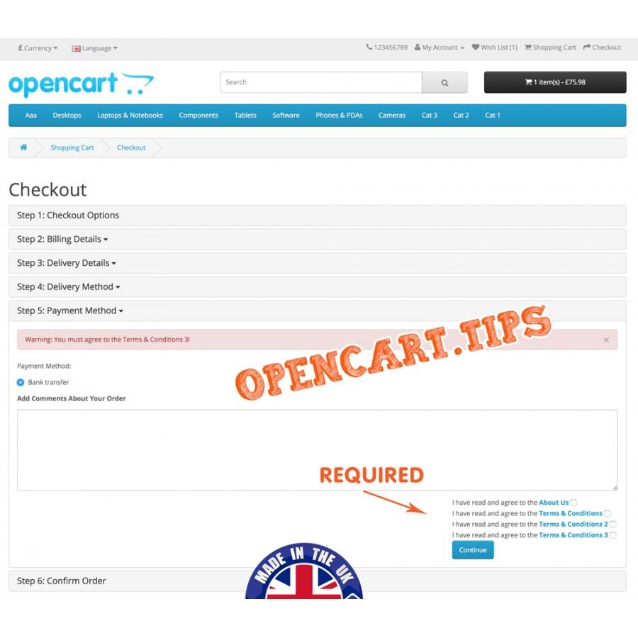 GDPR Opencart 3