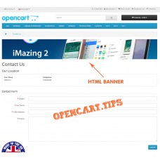 HTML Banners OpenCart 2