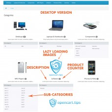 Home Page Categories OpenCart