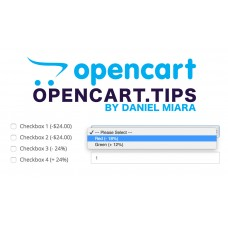 Percentage to Price Option Opencart