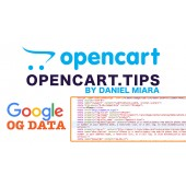 Meta OG DATA +Snippet for Google OpenCart 2