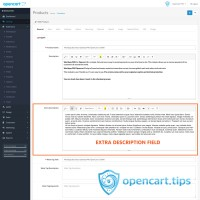 Extra Description Field Opencart 3