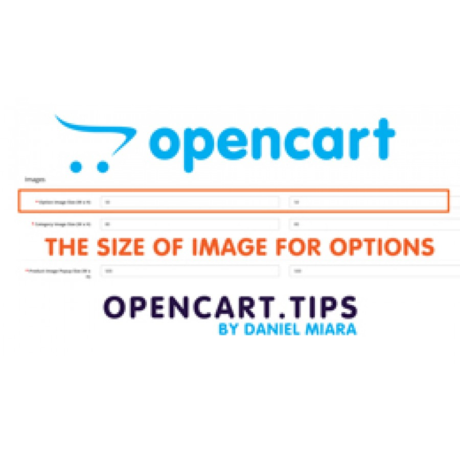 Product - option image size / The size of image for options OpenCart