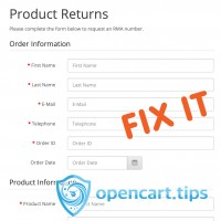 Order Return Email Notification OpenCart