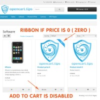 POA Price On Application Opencart 2