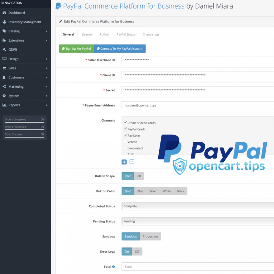 PayPal Commerce Platform for Business