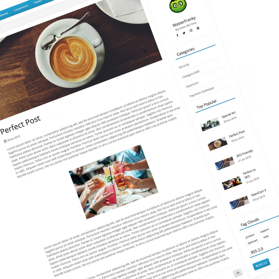 Rebel Blog CMS Opencart