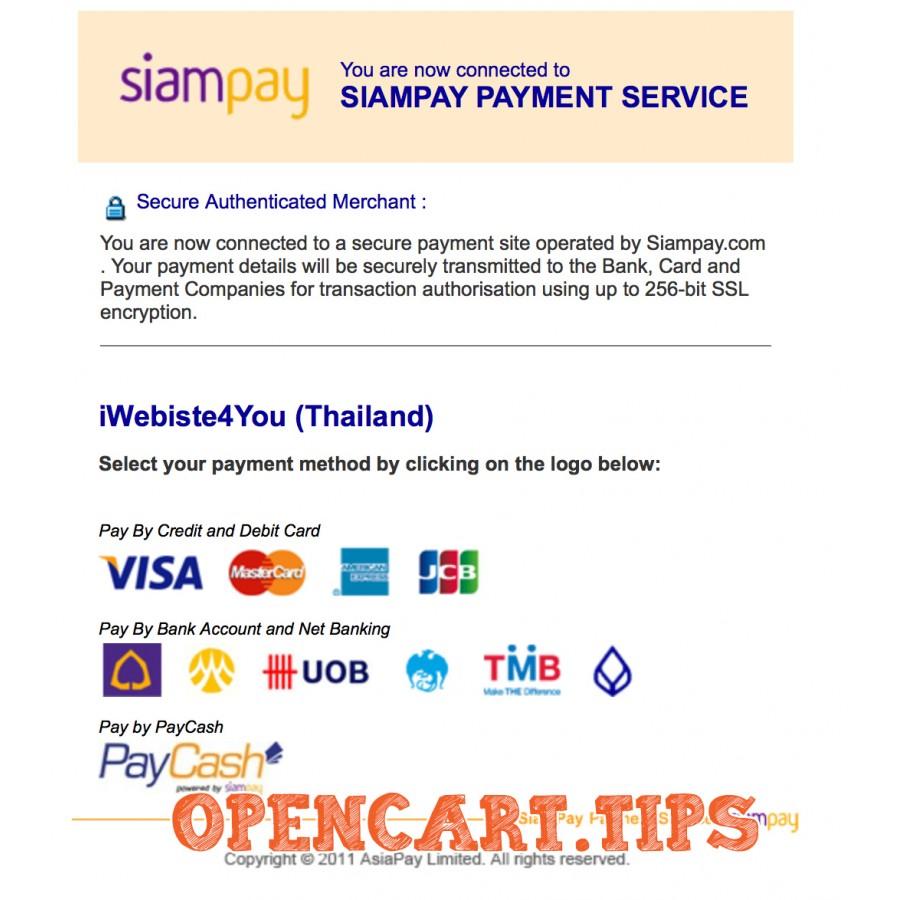Simapay AsiaPay OpenCart 2
