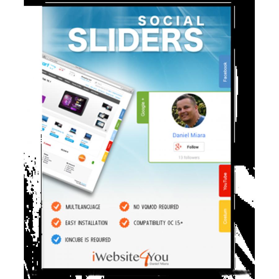 Social Sliders OpenCart 1.5