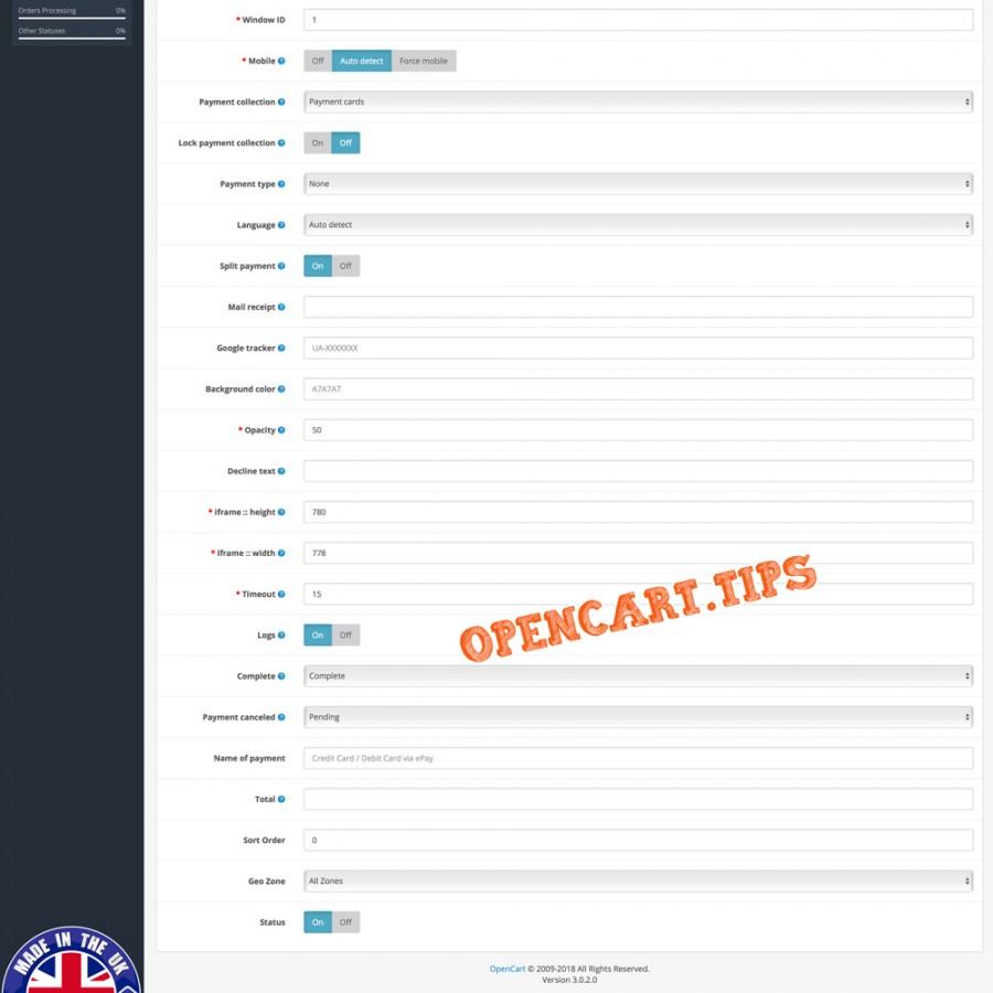 ePay Bambora OpenCart 3